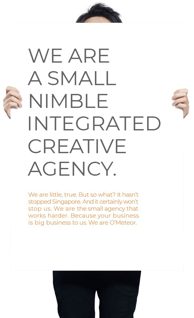 We Are a Small Nimble Integrated Creative Agency.